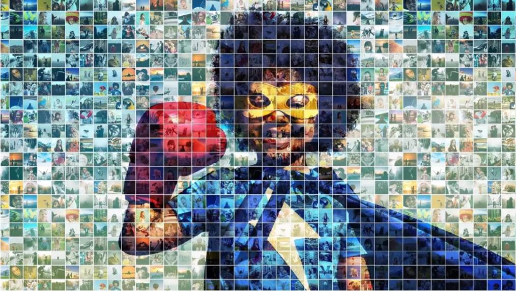 AE照片墙电子相册模板Mosaic Photo Reveal