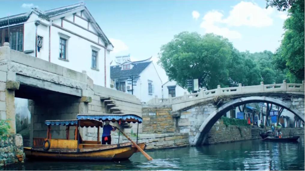 江南古镇小桥流水人文风景视频素材