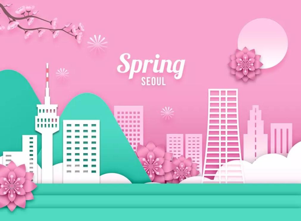 2020韩国高端春季海报PSD素材