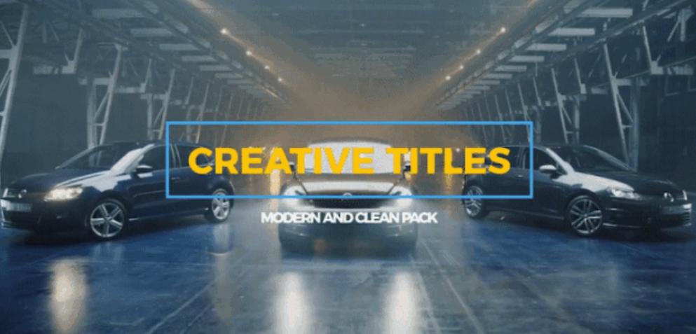 AE模板+PR预设:31种现代简洁文字标题动画