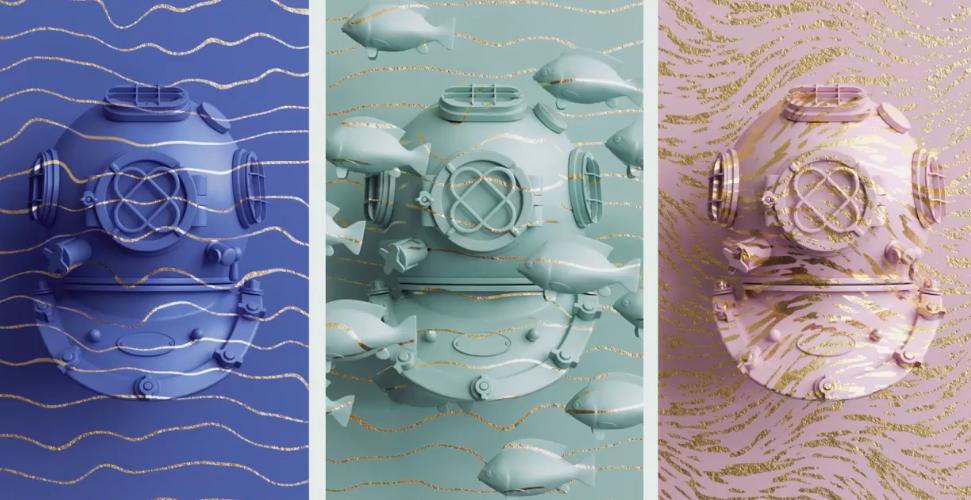 电商广告包装GSG灰猩猩 阿诺德 渲染器C4D材质预设