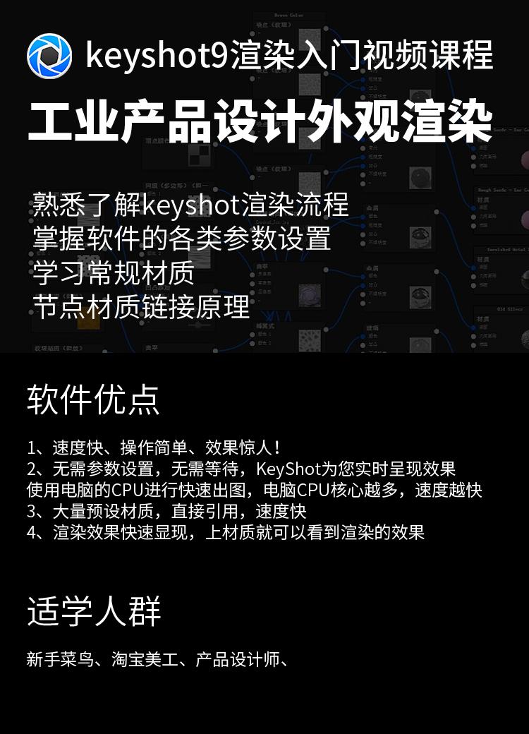 Keyshot9渲染入门视频教程